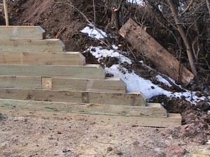 End of Timber Retaining Wall