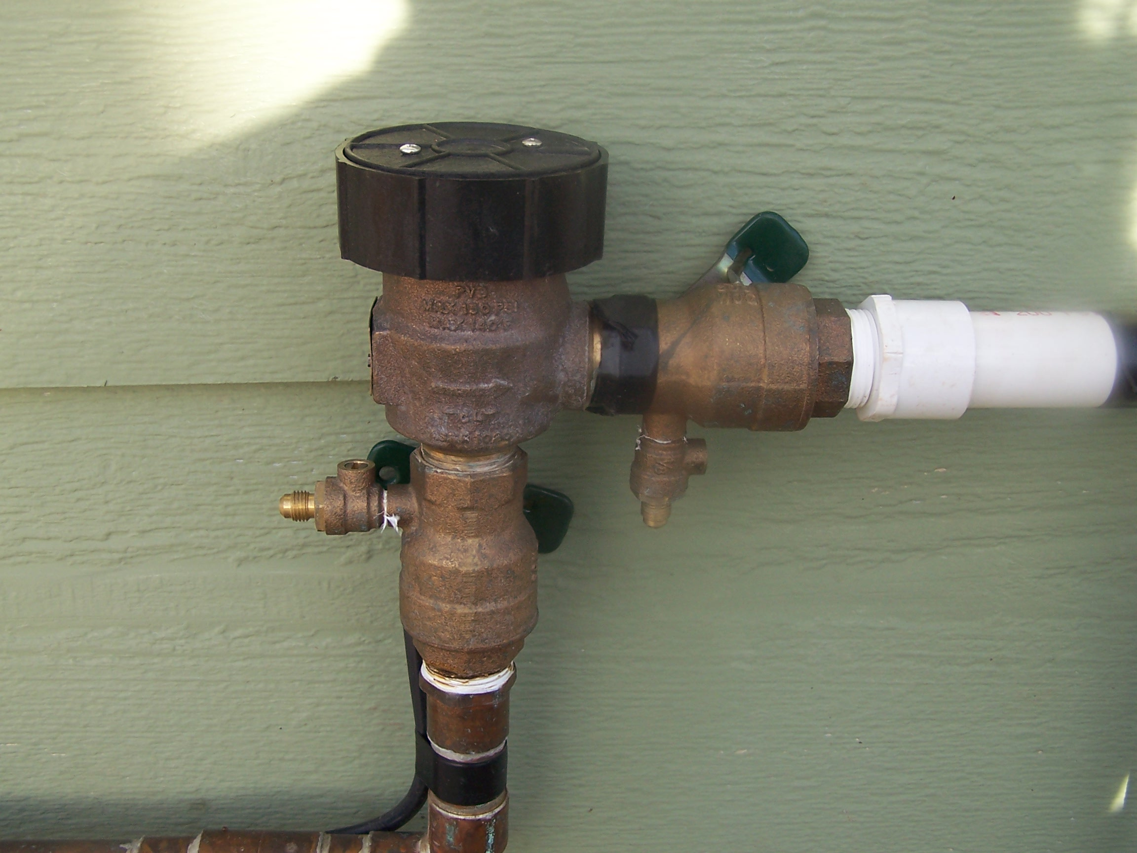 Lawn Sprinkler Backflow Preventer Installation Free