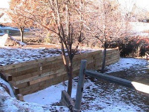 Wood Timber Retaining Wall